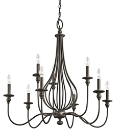 Kichler Kensington Collection Chandelier 9 Light in Olde Bronze