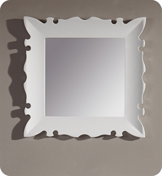 "Fresca Platinum Versalles 24"" Bathroom Mirror in White Gloss"