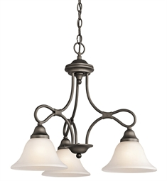 Kichler Stafford Collection Chandelier 3 Light in Olde Bronze