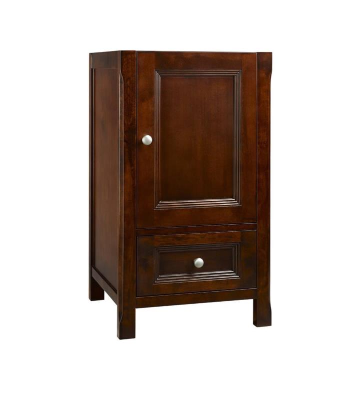 juliet neo classic 18 bathroom vanity cabinet base in vintage walnut