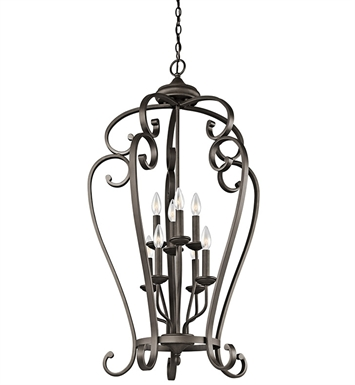 Kichler 43166OZ Monroe Collection Chandelier Foyer Cage 8 Light NI in Olde Bronze