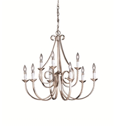 Kichler Dover Collection Chandelier 9 Light in Brushed Nickel