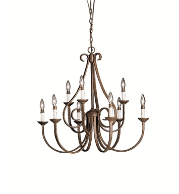 Kichler 2031TZ Dover Collection Chandelier 9 Light in Tannery Bronze