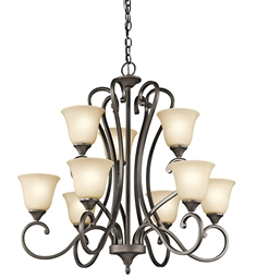 Kichler Feville Collection Chandelier 9 Light OZ in Olde Bronze