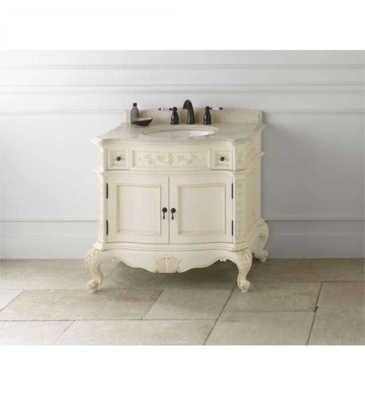 f12 bordeaux vintage 36 bathroom vanity cabinet base in antique white