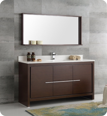 "fresca fvnwgs allier "" wenge brown modern single sink, Bathroom decor"