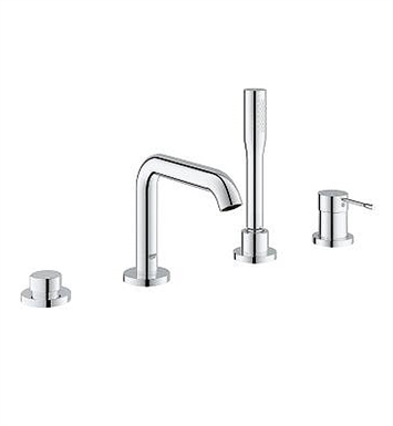 Grohe 19578001 Essence New Deck Mounted Roman Tub Faucet Trim With Built In D