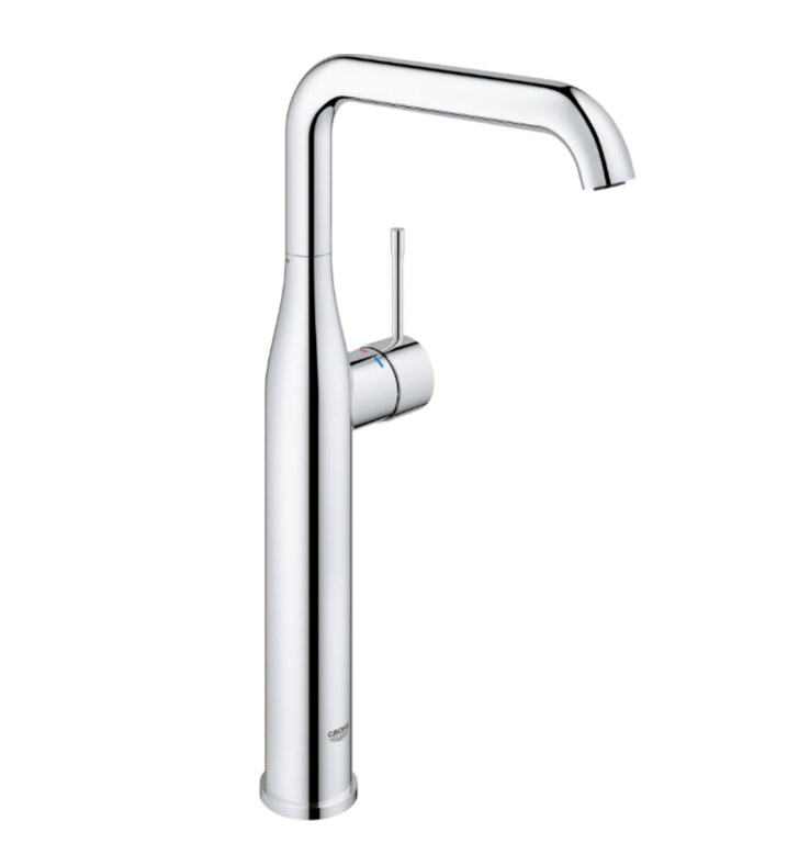 grohe 23538001 essence new single hole bathroom faucet in chrome. Black Bedroom Furniture Sets. Home Design Ideas