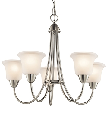 Kichler 42884NI Nicholson Collection Chandelier 5 Light With Finish: Brushed Nickel