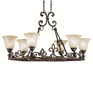 Kichler 2090CZ Wilton Collection Chandelier 6 Light in Carre Bronze