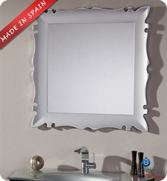 "Fresca Platinum Versalles 32"" Bathroom Mirror in Silver Gloss"