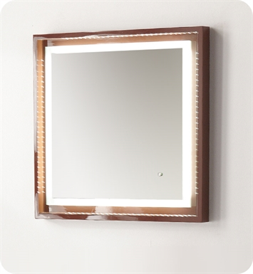 "Fresca Platinum FPMR7542CL Napoli 24"" Bathroom Mirror with LED Lighting and Fog Free System in Chocolate Gloss"