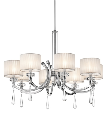 Kichler 42632CH Parker Point Collection Chandelier 8 Light CH in Chrome