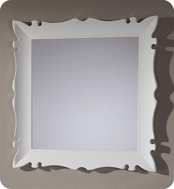 "Fresca Platinum FPMR7514WH Versalles 32"" Bathroom Mirror in White Gloss"