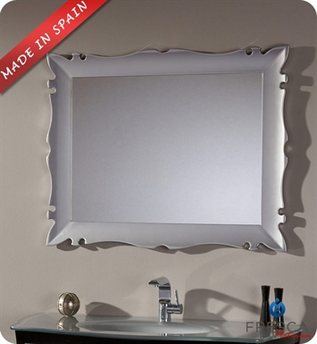 "Fresca Platinum FPMR7516SL Versalles 43"" Bathroom Mirror in Silver Gloss"