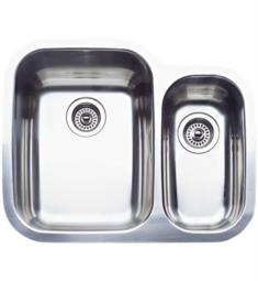"Blanco 440163 Supreme 25 3/4"" Double Bowl Undermount Stainless Steel Kitchen Sink in Polished Satin"