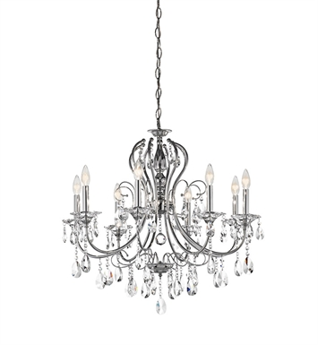 Kichler Jules Collection Crystal Chandelier 8 Light in Chrome