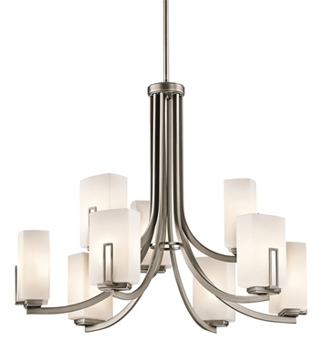 Kichler 42428AP Chandelier 9 Light AP in Antique Pewter