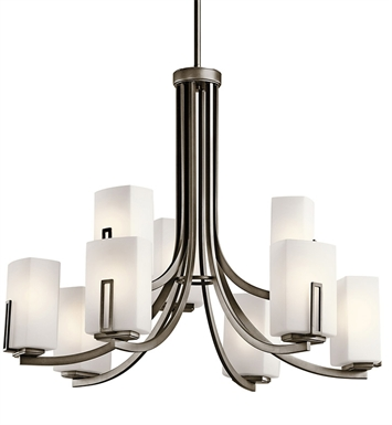 Kichler 42428SWZ Chandelier 9 Light AP in Shadow Bronze