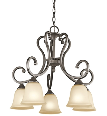 Kichler 43176OZ Feville Collection Chandelier 5 Light OZ in Olde Bronze