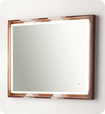 "Fresca Platinum FPMR7546CL Napoli 39"" Bathroom Mirror with LED Lighting and Fog Free System in Chocolate Gloss"