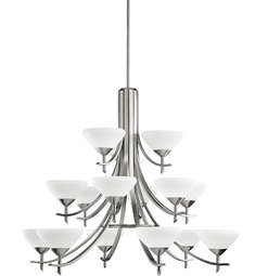 Kichler Olympia Collection Chandelier 15 Light in Antique Pewter