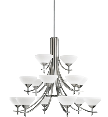 Kichler 1681AP Olympia Collection Chandelier 15 Light in Antique Pewter