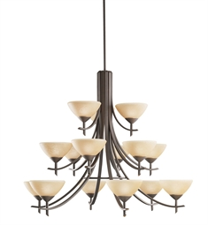 Kichler Olympia Collection Chandelier 15 Light in Olde Bronze