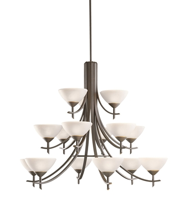Kichler 1681OZW Olympia Collection Chandelier 15 Light in Olde Bronze