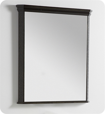 "Fresca Platinum FPMR7524AB London 32"" Bathroom Mirror in Antique Black w/ Fog-Free System"
