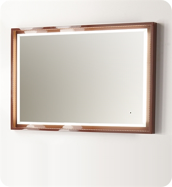 "Fresca Platinum FPMR7548CL Napoli 47"" Bathroom Mirror with LED Lighting and Fog Free System in Chocolate Gloss"