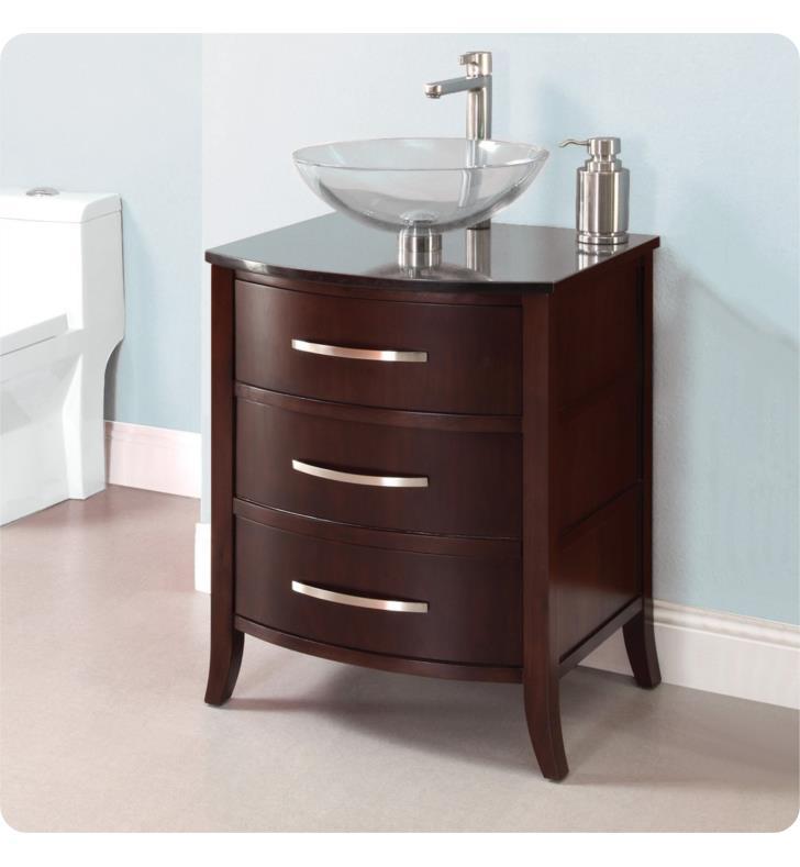 Decolav 5254 dwn lola 24 bathroom vanity without countertop in dark walnut for 80 bathroom vanities without tops