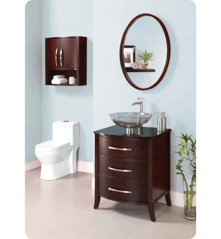 Decolav 5254 Dwn Lola 24 Bathroom Vanity Without Countertop In Dark Walnut