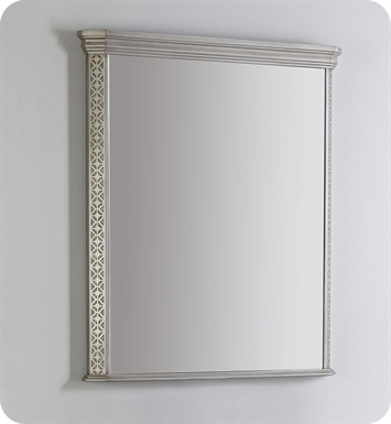 "Fresca Platinum FPMR7524SA London 32"" Bathroom Mirror in Antique Silver w/ Fog-Free System"