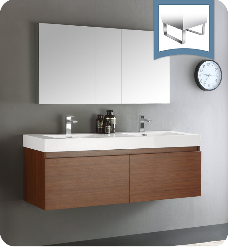 new mezzo teak wall hung double sink modern bathroom vanity medicine cabinet vanities online mounted furniture uk sydney
