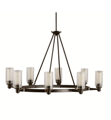 Kichler 2345OZ Circolo Collection Chandelier 8 Light in Olde Bronze