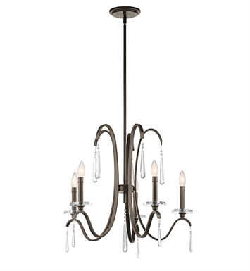 Kichler 43288OZ Tara Collection Chandelier 5 Light in Olde Bronze