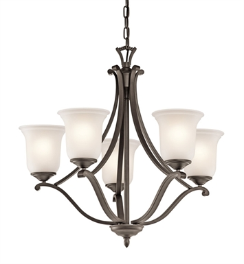 Kichler 43401OZ Wellington Square Collection Chandelier 5 Light in Olde Bronze