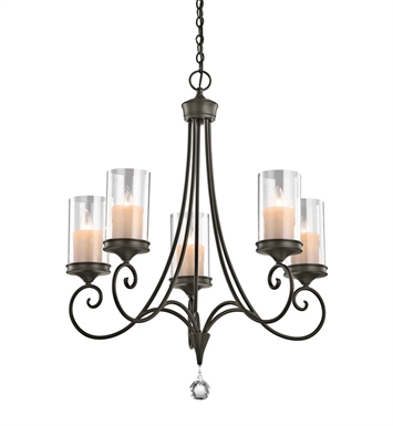 Kichler 42861SWZ Lara Collection Chandelier 5 Light in Shadow Bronze
