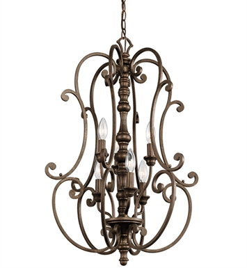 Kichler 43282TRZ Foyer 6 Light TRZ in Terrene Bronze