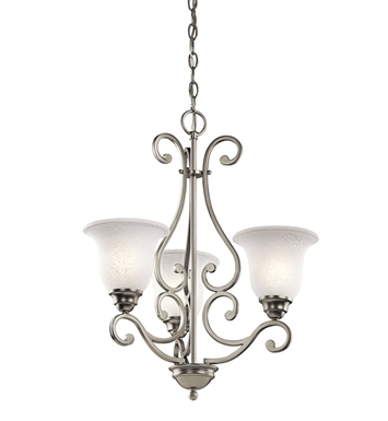 Kichler 43223NI Camerena Collection Chandelier 3 Light With Finish: Brushed Nickel