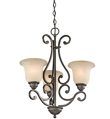 Kichler 43223OZ Camerena Collection Chandelier 3 Light NI in Olde Bronze