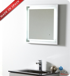"Fresca Platinum FPMR7562SL Napoli 24"" Bathroom Mirror with LED Lighting and Fog Free System in Silver Gloss"