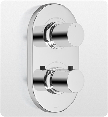 TOTO TS794D#CP Nexus® Thermostatic Mixing Valve Trim with Dual Volume Control With Finish: Polished Chrome