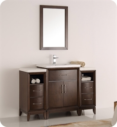 "Fresca FVN21-122412AC Cambridge 48"" Antique Coffee Traditional Bathroom Vanity with Mirror"
