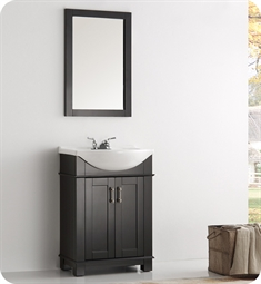 "Fresca FVN2302BL-CMB Fresca Greenwich 24"" Black Traditional Bathroom Vanity"