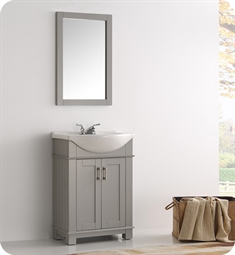 "Fresca FVN2302GR-CMB Fresca Greenwich 24"" Gray Traditional Bathroom Vanity"