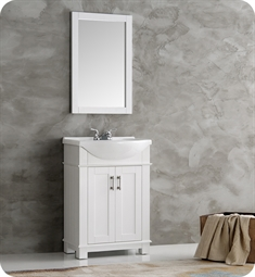 "Fresca FVN2302WH-CMB Fresca Greenwich 24"" White Traditional Bathroom Vanity"
