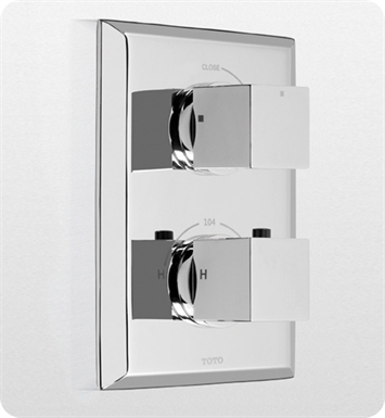 TOTO TS930C#CP Lloyd® Thermostatic Mixing Valve Trim with Single Volume Control With Finish: Polished Chrome