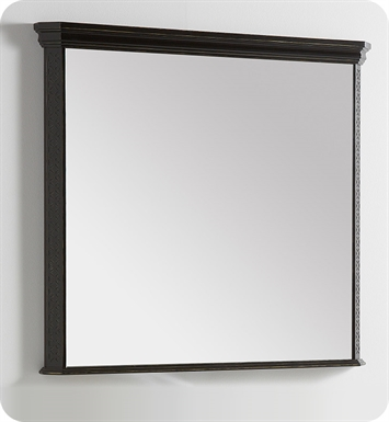 "Fresca Platinum FPMR7526AB London 39"" Bathroom Mirror in Antique Black w/ Fog-Free System"